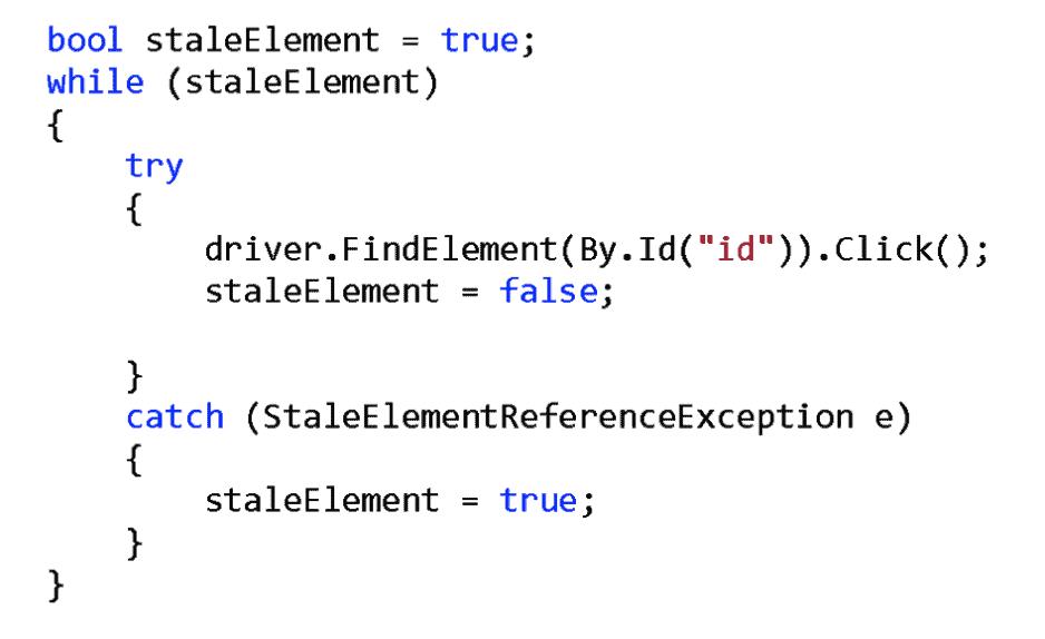 Stale Element Reference Error in Selenium .NET Code