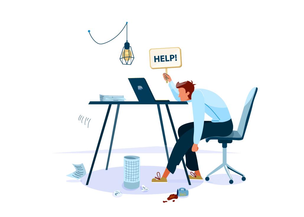Avoiding Development Team Burnout Illustration